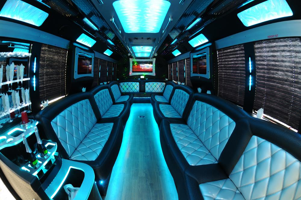 Limo bus party bus rental new jersey party bus rentals for Party bus with bathroom