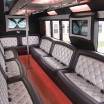 limo bus rental with restroom