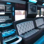limo bus rental with bathroom